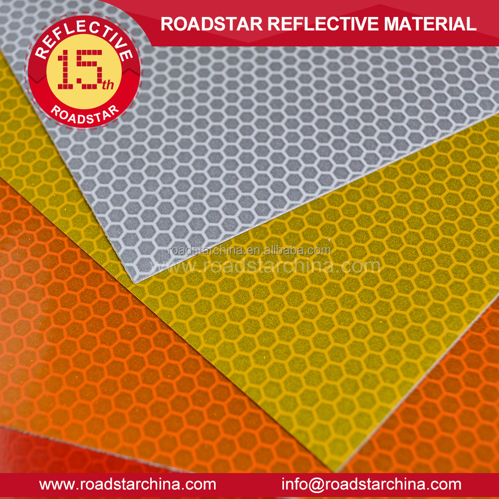 Honeybomb reflective traffic signage sheeting,high intensity grade sheeting