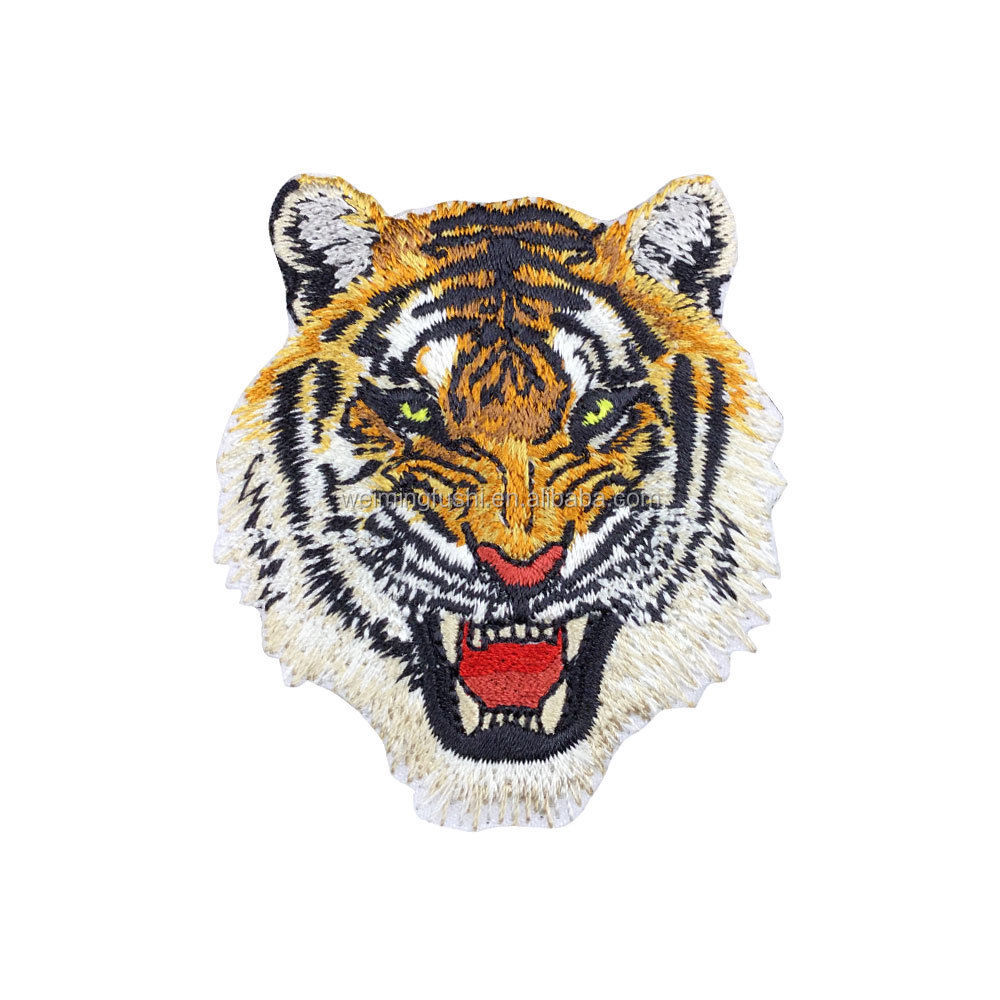 Tiger Patch Embroidered Iron on Animal Patches