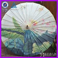 Summer Lotus Chinese Parasol Oil Paper Craft Handmade Designer Umbrellas For Wedding Decoration