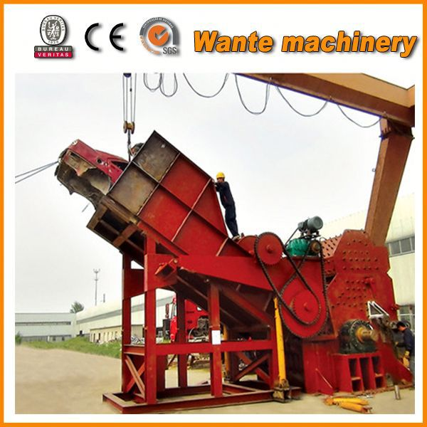 High capacity scrap used car battery crusher machine with competitive price