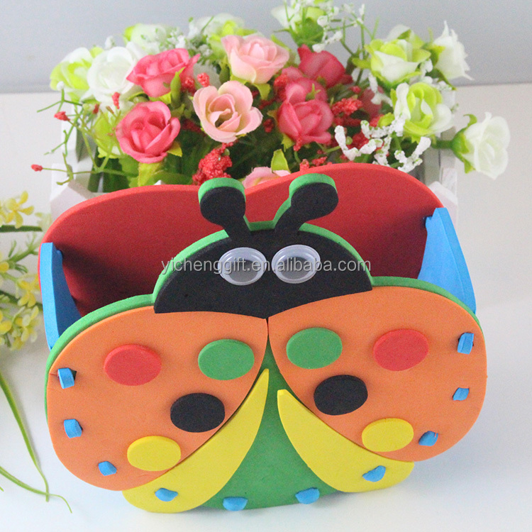 Customized Animal Shape Ladybug EVA Container DIY EVA Pen Holder