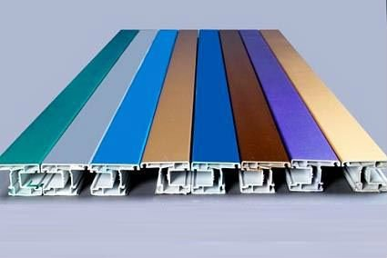 ASA color coating upvc profiles/windows profile