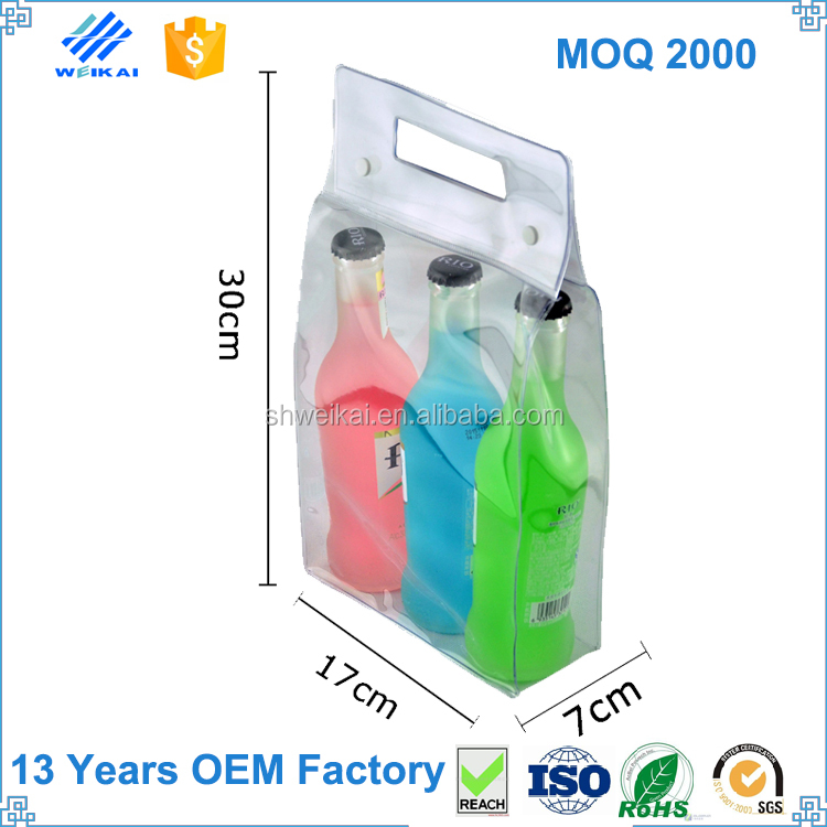 Wholesale PVC plastic ice bag for wine