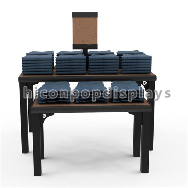 Apparel retail store furniture wooden clothing display table