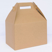 folding corrugated gift paper box with handle /folding box for giftware