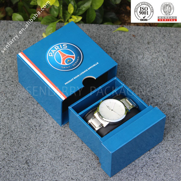 Customized cardboard packaging case for watch in drawer design