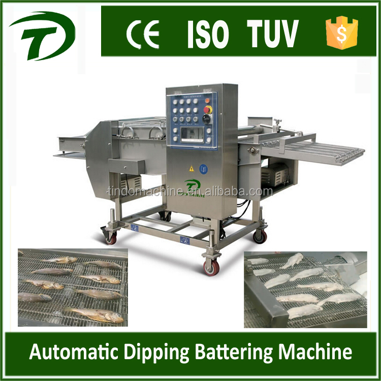 hamburger meat dipping batter breading machine