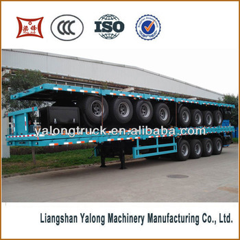 China Manufacturer 3 Axle 40ft Container Flatbed Trailer