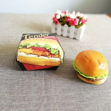 Creative Custom Disposable Fast Food Paper Hamburger Boxes
