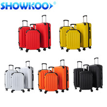 Factory Hot sale ABS vintage trolley luggage Suitcase with 3 sizes