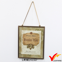 recycled metal edging antique picture frame backboard