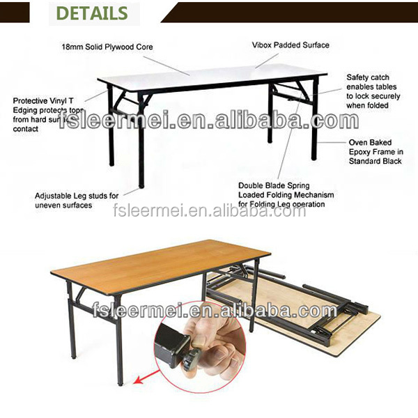 Folding Wood half Table TF-T104