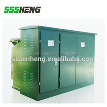 outdoor electrical power distribution transformer substation