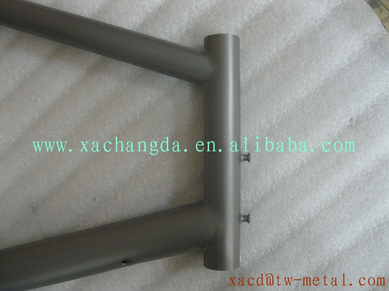 Hot sale new style titanium MTB bike frame custom mountain bike frame new design bicycle frame