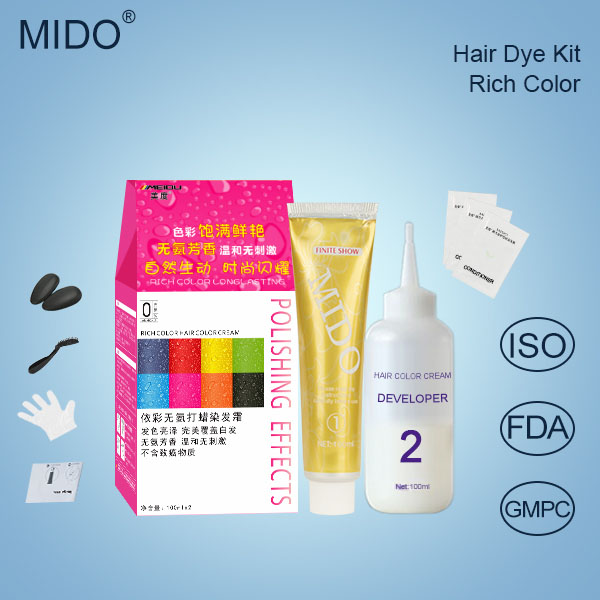 China wholesale hair dye manufacturers private label permanent natural hair color with free hair dye samples