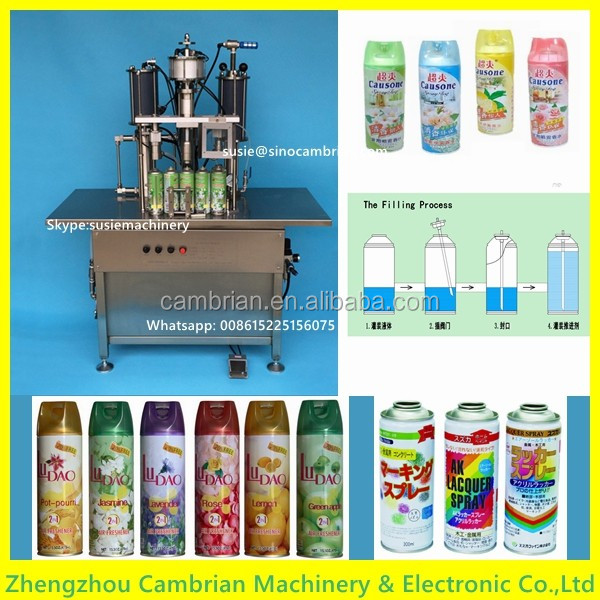 3 function in 1 aerosol filling machine aerosol spray can filling machine with advanced design