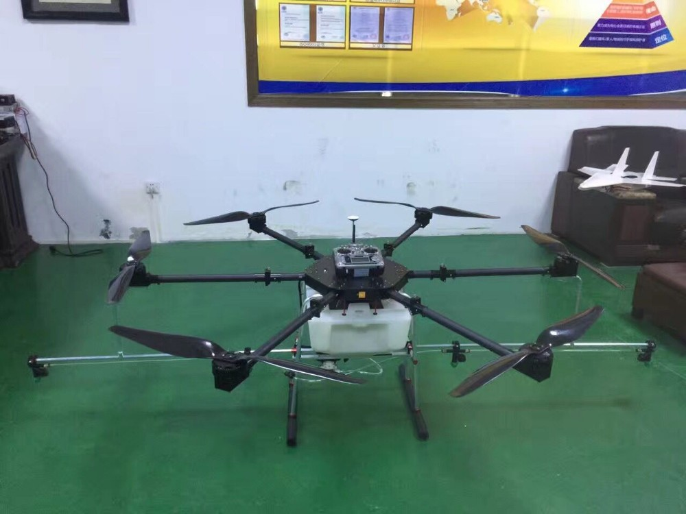 Foldable 20KG XYX-804 UAV SIX Rotor Agriculture Drone with 2x 6S 22000mAh battery