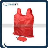 Clip folding reusable shopper bag,Gift polyester fold shopping bag with plastic clip