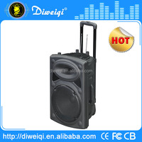 Customizable high powered stereo portable speaker with 15 inch tweeter