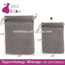 High quality grey velvet small Tool Accessories Kits pouches