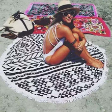 Customized printed beach towels round