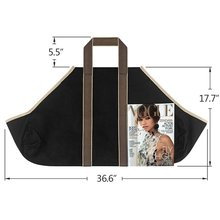Large Canvas Log Tote Bag Carrier Indoor Carrier Carrying for Outdoor