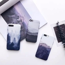 Creative simple ink painting retro landscape phone case for iphone 7plus, IMD soft all-inclusive phone case for iphone 7