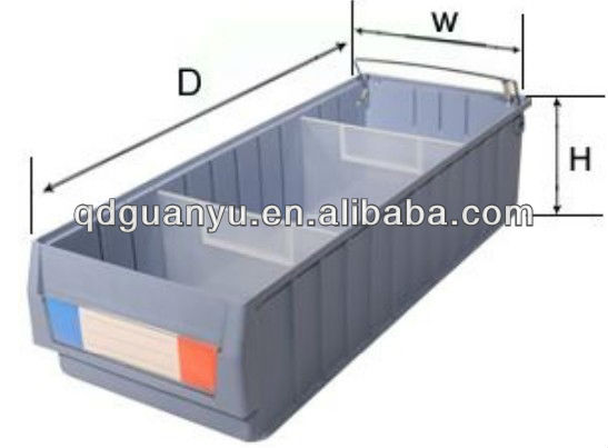 Plastic storage shelf box