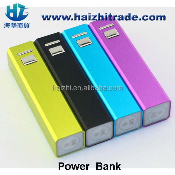 power bank 2000mah 2200mAh 2600mA universal portable lipstick charger power bank,power supply