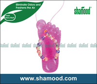 Flip-flop Scented Plastic Hanging Car Air freshener With Fresh Berry Blast Scent
