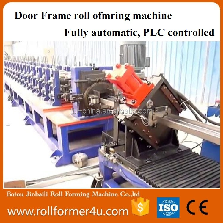 Gear Box Driving Door Frame Roll Forming Machine Steel Shutter Door Frame Bending Roll Forming Machine