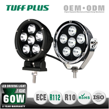 E-mark approved 4WD 5inch Round 60W Spot Flood light offroad jeep led driving light