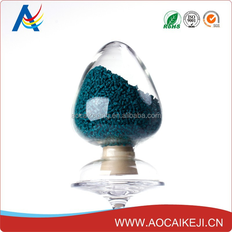 Deep green masterbatch pigment for plastic cup/ bucket/ basin / container/ good tinting strength