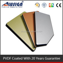 Alusign unbreakable PVDF & PE best seller aluminum composite wall panel acp plate with factory price