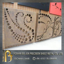 customized metal manufacture laser cutting wall mounting decoration screen farbricating service