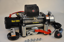 24v 12000lb CE approved electric winches for offroad use with key lock