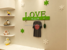 Wood Product Painted Technique FAMILY Small letters plaque Wall Mounted wooden alphabet Letters