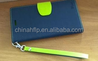 tpu pu leather wallet flip mobile phone case and Lanyard