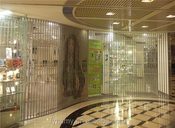 high security and elegant transparent polycarbonate rolling shutters for bank vault