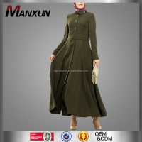Trendy Muslim Dress Saudi Women Abaya Elegant Turkish Jilbab