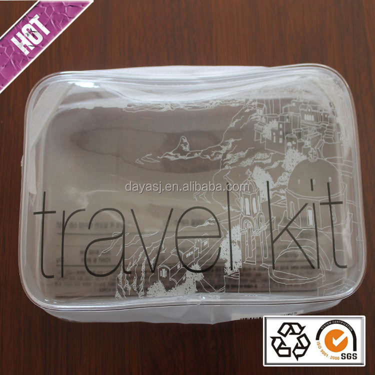 Portable Plastic Mini Travel Bag Wholesale Transparent Promotion Plastic PVC Travel Tiletry Bag With Zipper