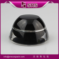 SRS made in China wholesale luxury black plastic cosmetic container, whitening cream jar acrylic