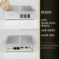 Newest quad core mini pc aluminum fanless android htpc