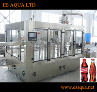 ES AQUA Automatic 3-in-1 carbonated soft drink filling machine / beverage bottling equipment