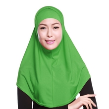 2017 special color convenience islamic dubai one piece scarf instant hijab cap