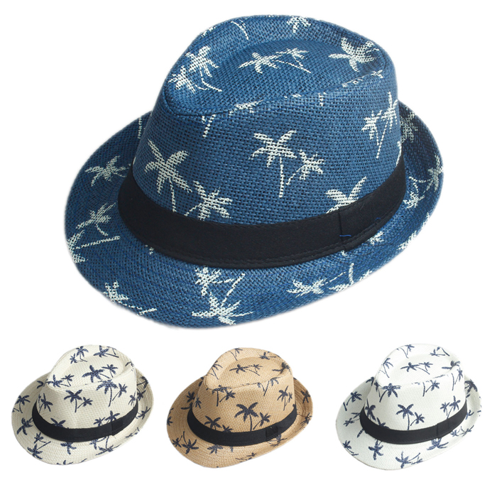 Wholesaled custome Flax Straw hat belt hat Men Women Leisure fashion hats