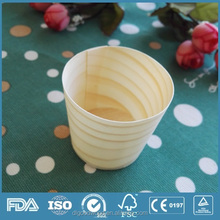 Eco-friendly and natural disposable large wooden cups