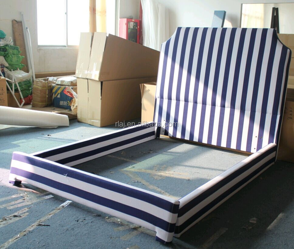 Zebra fabric upholstered beds for hotel, home or showroom display