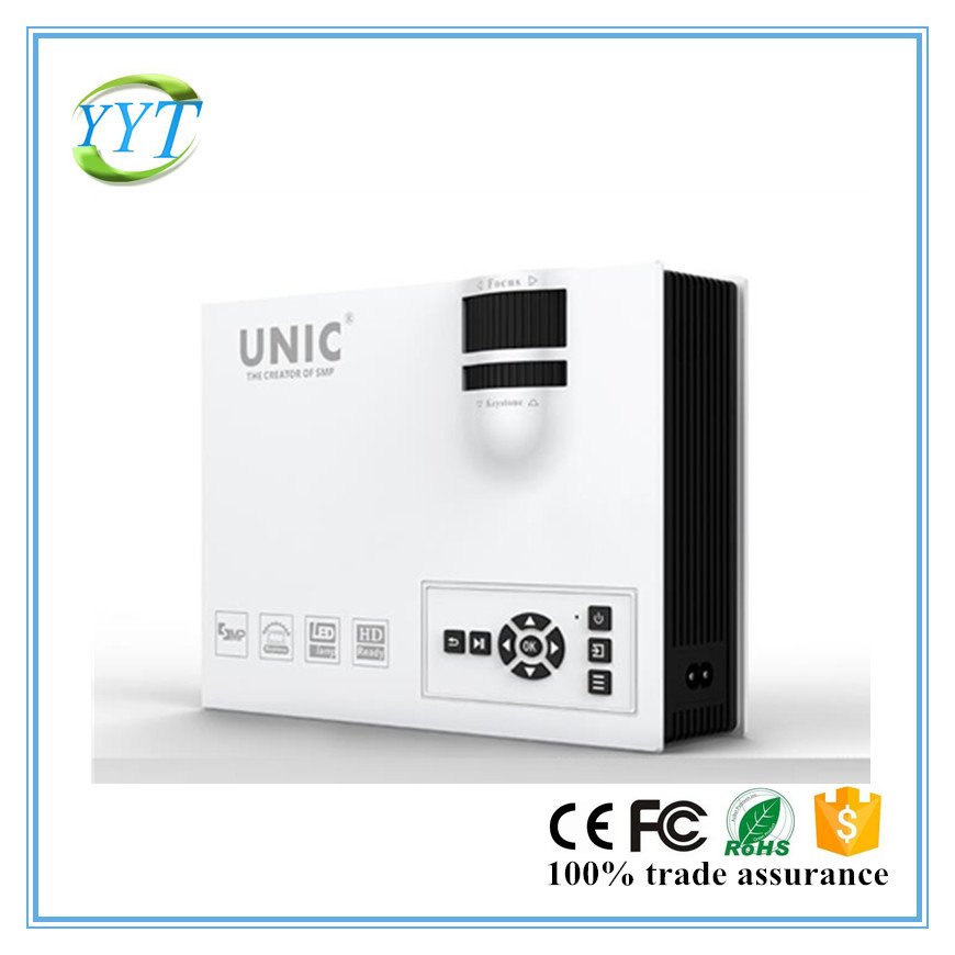 New Low cost UNIC 800lumen 800*480 micro HDMI VGA LED home theatre projector UC40