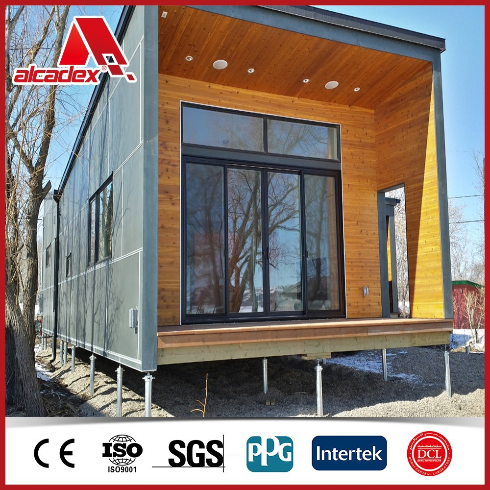 home decor container house/aluminum composite panel